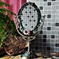 """PPVB® 14 """"neoklassischen Stil Oval Tabletop Metallspiegel (farbige Zeichnung)"""