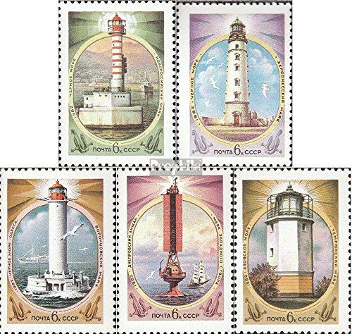 Prophila Collection Sowjetunion 5239-5243 (kompl.Ausg.) 1982 Leuchttürme (Briefmarken für Sammler) Leuchttürme -