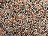 Natursteinteppich-Fliese Classic Line Melange - flexible Bodenfliese für Innen und Außen aus italienischem Marmorkies, Teppichfliese, Marmorteppich, Terassenboden, Poolumrandung - 1m² Paket (4 Stück 50x50 cm)
