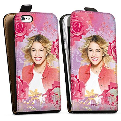 Apple iPhone 5s Hülle Premium Case Cover Disney Violetta Geschenke Merchandise Downflip Tasche schwarz
