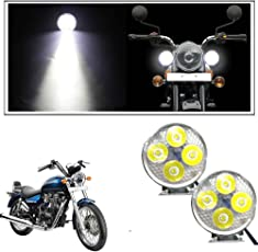 Headlights buy headlights online at best prices in india amazon vheelocityin 4 led small circle motorcycle light bike fog lamp light 2 pc for royal fandeluxe Image collections