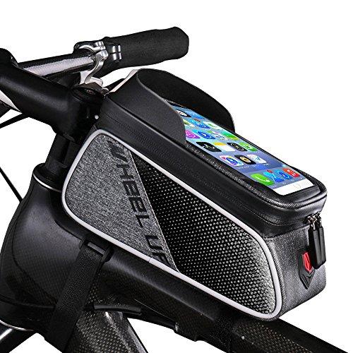 SZSMD Rahmentaschen, Fahrradtaschen Fahrrad Oberrohrtasche, Smartphone Fahrrad Wasserdicht für iPhone 7 Plus/6s Plus/6 Plus/Samsung s7 Edge Andere bis zu 6 Zoll Smartphone