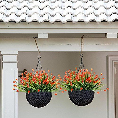 Nahuaa Kuenstliche Pflanze, 4 Stück Künstlichen Calla Lily Blumen Grün Strauch Gefälschte Kunststoff Weizen Gras Sträucher Draußen Tabelle Blumenarrangements Zuhause Küche