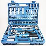 Craft-Equip 94 tlg Steckschlüssel-Satz Ratschenkasten Nusskasten Werkzeug Koffer