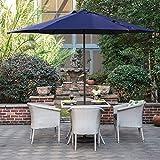 Grand Patio Gartenschirm Sonnenschutz UV-Schutz Sonnenschirm Ø 270CM