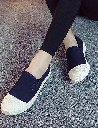ShangYi gyht Scarpe Donna - Ballerine / Mocassini / Senza lacci - Tempo libero / Casual - Comoda / Modelli - Piatto - Di corda - Nero / Blu / Grigio Dark Blue