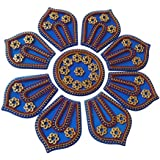 Anaya Industries Acrylic Handicraft Rangoli (28 Cm X 1 Cm X 28 Cm, Blue, Set Of 9)