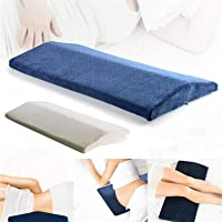 House of Quirk Soft Memory Foam Sleeping Pillow for Lower Back Pain,Multifunctional Lumbar Support Cushion for Hip,Sciatica and Joint Pain Bed Pillow - Navy Blue
