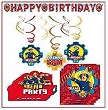 Libetui Feuerwehrmann Sam Party-Deko-Set für Kindergeburtstag Geburtstagsparty Kinderparty
