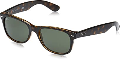 Ray-Ban, RB2132, New Wayfarer Sunglasses, Unisex Ray-Ban Sunglasses, 100% UV Protection, Polarized Wayfarer, Reduce Eye...