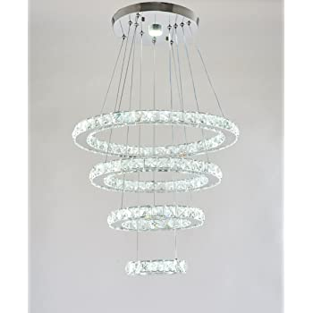 40 Inch Chrome Crystal Chandelier 40 Inches 40 Inches