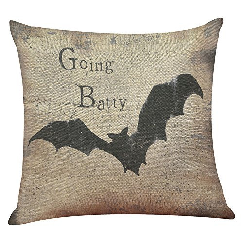 (iYmitz Happy Halloween Leinen Dekokissen Fall Kissenbezug Home Sofa Decor (G1,45cmx45cm))