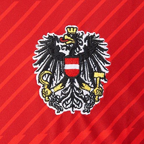 Puma - Men s Replica Football Jersey - Austria Home Kit Red Red White Size M