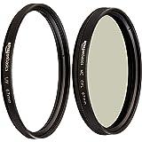 Amazon Basics Filtre polarisant Circulaire - 67mm & Filtre de Protection UV - 67mm