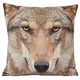 Riva Paoletti Animal Wolf Kissen, Mehrfarbig, 45x 45cm