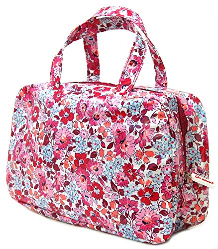 Cath Kidston Large Wash Bag - Welham Flowers Design in Cerise Oilcloth