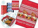 Weihnachtliche Kuscheldecken in weicher Microfaser-Qualität - verspielte Wohndekoration in winterlichem Design in der Größe 150 x 200 cm, Eulen - Frohe Weihnachten