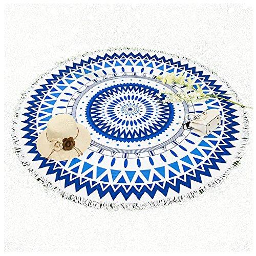 VENISON Ronda Beach Scarf Cómo Maravilloso Diseño Decorativo Colgante de Pared Tapestry Picnic Yoga Mat Fibra Multi-Funcional Toalla(Sandía roja)