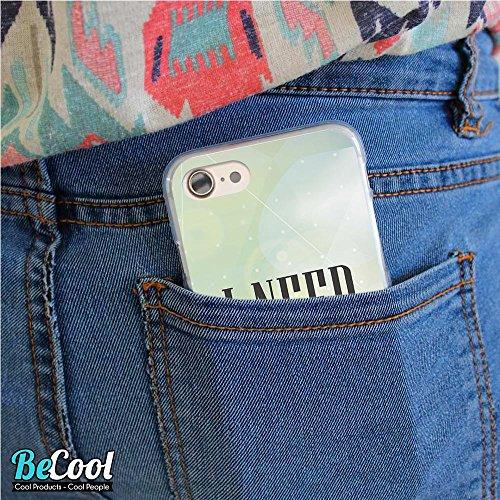 BeCool®- Coque Etui Housse en GEL Flex Silicone TPU Iphone 8, Carcasse TPU fabriquée avec la meilleure Silicone, protège et s'adapte a la perfection a ton Smartphone et avec notre design exclusif. Cer L1696