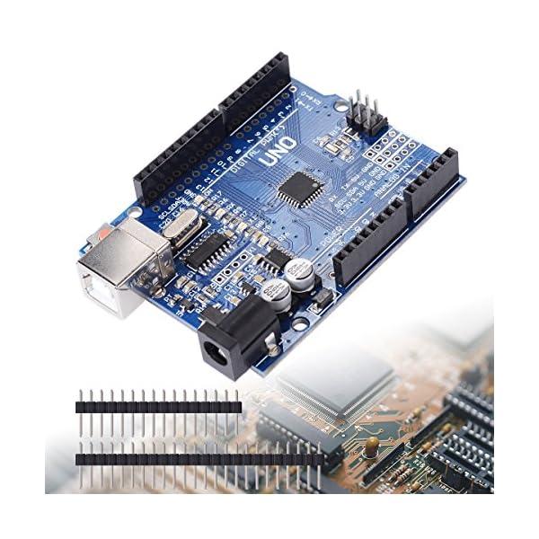 61RTlXDgDQL. SS600  - XCSOURCE® Tablero UNO R3 Rev3 Desarrollo ATmega328P CH340G AVR Compatible Arduino + Cable para Arduino HUM TE113