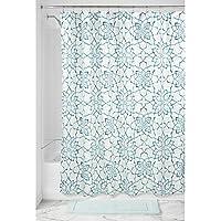 InterDesign-Tenda per doccia in tessuto Kenzie, motivo floreale, colore: foglia