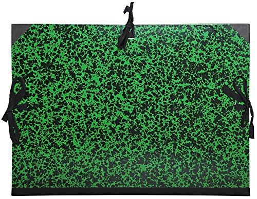 Exacompta 532000E - Carpeta de dibujo con cintas, Din A3, 32x45 cm, verde