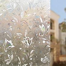 Rabbitgoo® Sin Cola 3D Vinilo de Ventana Pegatina Translúcida Autoadhesiva Vinilos Decorativos para el Vidrio de Ventana Electristático Aplicable a la Vidriera Cocina Oficina Salón 44.5*200cm