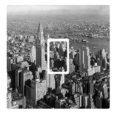 New York City NYC Black & White Light Switch Sticker wall skin vinyl cover