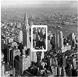 Black, White New York City Vinyl Sticker for Single Light Switch Cover