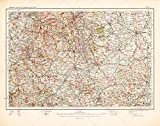 MAP ANTIQUE 1902 OS UK DERBYSHIRE RUTLAND LEICESTER REPLICA