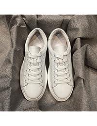 QQWWEERRTT Zapatos Blancos de Moda Zapatos de Mujer PU Solos Zapatos nuevos de Verano Zapatos Deportivos Gruesos...