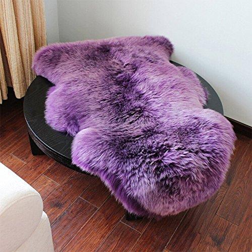 Kicode Weiß Faux-Schaffell Für Wohnzimmer -Bett-Zimmer - Lila