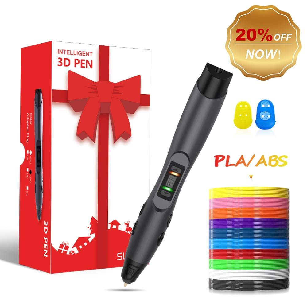 3D Pen,3D Printing Pen Competable with PLA & ABS Filaments with Speed and Temperature Adjustable,Non-Toxic-Won't Clog Design,Coming with Shovel and Stencil as Bonus,3 Models for Your Options.