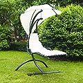 Outsunny 840-017Outdoor Garten Terrasse Hollywoodschaukel Hubschrauber Sonnenliege Stuhl, Sitz Relaxer mit Kissen Vordach, schwarz