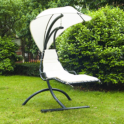 Outsunny Helicopter Sun Lounger Chair - Beige