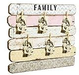 Pinnwand Tafel Memoboard Vintage used-Look rosa bunt patch work 55x71 cm NEU