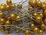 erlen-Nadeln Rosen-Deko-Nadeln Perle GOLD MATT 10mm 50 Stück ACHTUNG! KEINE