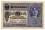 Banknoten Darlehenskassenschein (Nota de préstamo hipotecario) 5 Mark, Imperio alemán, 1917, No. X.19349107