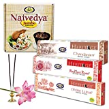Cycle Pure Agarbathies Combo Value Pack Of Heritage 3 Fragrances Chandanam Radiant Rose And Divine Lotus Incense Sticks 200 Grams Each Along With Naivedya Jumbo Cup Sambrani