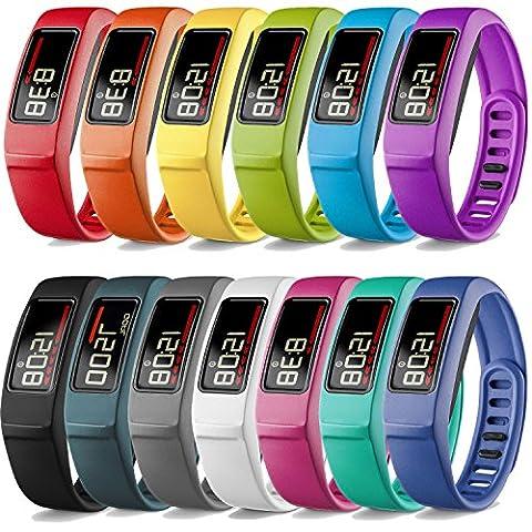 iBREK Garmin Vivofit 2 Bracelet de Remplacement avec M¨¦tal Boucle(Tracker Non Inclus)-S,13 Pack