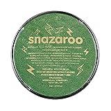 Snazaroo 1118422 Kinderschminke, hautfreundliche hypoallergene Gesichtschminke auf Wasserbasis, wasservermalbar, parabenfrei, metallic - grün, 18 ml Topf