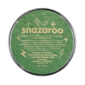Snazaroo - Pintura facial y corporal, 18 ml, color verde metálico