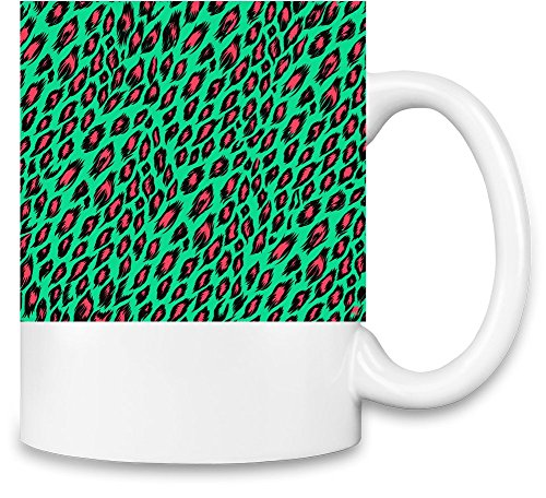 Animal Print Pattern Full Print Kaffee - Animal-print Becher Kaffee