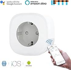 Presa Intelligente Wi-Fi Può Controllare I Consumi da 16A Potenza 3680W Gestione Elettrodomestici da Remoto tramite App Android e Ios Compatibile con Alexa, Google Assistant e IFTTT Samrt Plug MSS310 da Meross