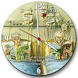 Veit's originelle, lustige Cartoon Wanduhr Krankenkasse Krankenpflege Altenpflege - Privat oder gesetzlich? Die Unterschiede!