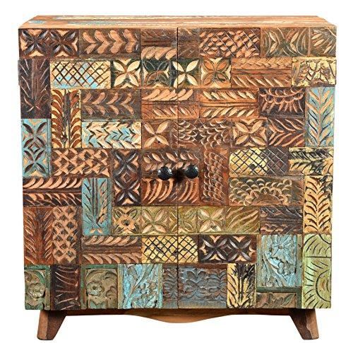 The Wood Times Kommode Schrank Massiv Vintage Look Agra Holz FSC Recycelt, BxHxT 110x80x40 cm - 3