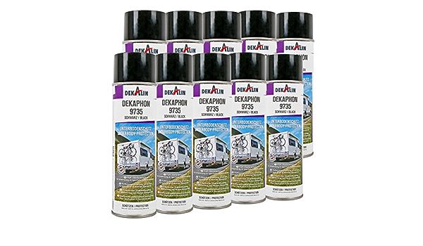 10x Dekaphon 9735 Unterbodenschutz Schwarz Für Sperrholz Fußbodenplatten Für Caravan Und Wohnmobil Auto