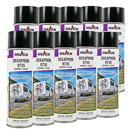 10x Dekaphon 9735 Unterbodenschutz Schwarz für Sperrholz & Fußbodenplatten 500 ml ideal für Caravan und Wohnmobil