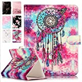 Housse universelle coque tablette 10 pouces, E-Unicorn Housse Étui Cuir Coque 10 Zoll Capteur de Rêves Campanula Motif Design Portefeuille PU Antichoc pour iPad 4 3 2 1, iPad Air 2, iPad Air, Samsung Galaxy Tab 3, Samsung Galaxy Tab 4, Lenovo Tab 2 A10-70, Lenovo TAB3 10 Plus, YunTab 3G Tablet 10.1 inch, XIDO X110 and All 9.5-10.5 pouces Tablette Case Smart Cover