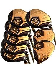 Japón Wazaki 14K oro acabado Cyclone 4-SW MX híbrida de acero hierros Golf Club Set + Funda (Pack de 16)
